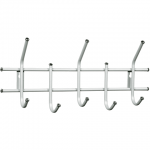 Вешалка настенная Sheffilton Стандарт, белая, 5 крючков, 280х600х110мм