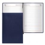 Ежедневник недатированный Brauberg Select темно-синий, А6, 168 листов, под зернистую кожу