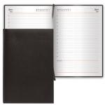 Ежедневник недатированный Brauberg Select черный, А6, 168 листов, под зернистую кожу