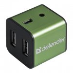 USB Хаб Defender Quadro Iron USB 2.0, 480 Mб/с, 4 порта