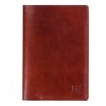 Обложка для паспорта Sergio Belotti коричневая, натуральная кожа