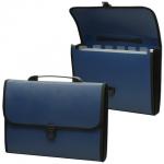 Портфель пластиковый Staff синий, 370х256х32мм, 6 отделений