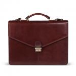 Портфель Gianni Conti 390х285х100мм, коричневый, натуральная кожа