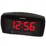 Радиобудильник Supra SA-28 черно-красный, AM/FM