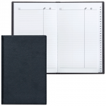 Телефонная книга Brauberg Favorite А5, 96 листов, кожзам, черная