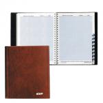 Телефонная книга Staff А5, коричневая, 80 листов, ПВХ