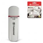 Флеш-накопитель Transcend JetFlash 620 4Gb, 32/10 мб/с, бело-красный