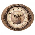 Часы настенные Scarlett SC-25I бежево-коричневые, 32х26х4 см, овальные