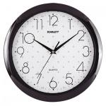 Часы настенные Scarlett SC-45Q бело-черные, d=29см, круглые