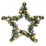 Украшение подвесное Tarrington House Звезда 40см, серебро и золото, 417935