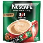 Кофе порционный Nescafe Крепкий 3в1 50шт х 16г, растворимый, пакет