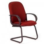 Кресло посетителя Chairman 279 V ткань, JP, на полозьях, красный