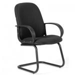 Кресло посетителя Chairman 279 V ткань, JP, на полозьях, черное