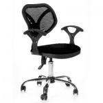 Кресло офисное Chairman 380 ткань, черная, TW, крестовина хром