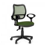 Кресло офисное Chairman 450 ткань, зеленая, TW, крестовина пластик
