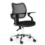 Кресло офисное Chairman 450 ткань, черная, TW, крестовина хром