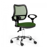 Кресло офисное Chairman 450 ткань, зеленая, TW, крестовина хром