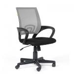 Кресло офисное Chairman 696 ткань, черная TW, крестовина пластик, серое
