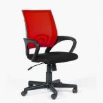 Кресло офисное Chairman 696 ткань, красная DW, черная TW, крестовина пластик