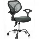 Кресло офисное Chairman 380 ткань, серая, TW, крестовина хром