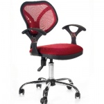 Кресло офисное Chairman 380 ткань, бордовая, TW, крестовина хром