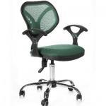 Кресло офисное Chairman 380 ткань, зеленая, TW, крестовина хром