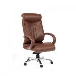 Кресло руководителя Chairman 420, крестовина хром, коричневое