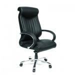 Кресло руководителя Chairman 420, крестовина хром, черная кожа