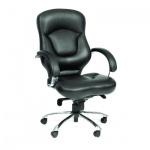 Кресло руководителя Chairman 430 нат. кожа, черная, крестовина хром