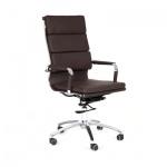 Кресло руководителя Chairman 750 иск. кожа, крестовина хром, коричневое