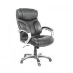 Кресло руководителя Chairman 435 нат. кожа, серая, крестовина пластик