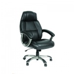 Кресло руководителя Chairman 436 нат. кожа, крестовина пластик, серое