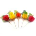 Пика для канапе Rioba фрукты, 10см, 100шт/уп