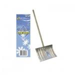 Лопата для снега Снежок алюминиевая, с черенком