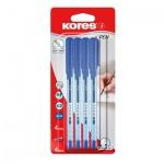 Набор ручек шариковых Kores К2 синяя, 0.7мм, 4шт