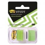 Клейкие закладки пластиковые Post-It Study зеленый, 25х38мм, 22 листа, 680-BG-LEU