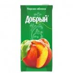 Сок Добрый, 2л, персик/яблоко