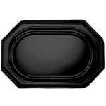 Блюдо одноразовое Sabert Mozaik черное, 46х30см, 10шт/уп