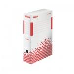 Архивный бокс Esselte Speedbox Fast-Assembly бело-красный, А4, 100 мм, 623908