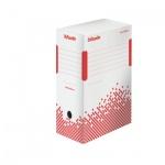 Архивный бокс Esselte Speedbox Fast-Assembly бело-красный, А4, 150 мм, 623909