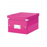 Архивный короб Leitz Click & Store-Wow, A5, 220x160x282 мм, розовый