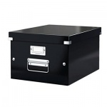 Архивный короб Leitz Click & Store черный, А4, 370х281х200мм, средний, 60440095