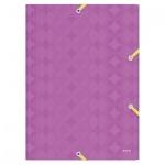 Пластиковая папка на резинке Leitz Retro Chic, A4, 38мм, фиолетовая
