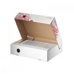 Архивный бокс Esselte Speedbox Fast-Assembly бело-красный, А4, 80 мм, 623910