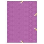 Пластиковая папка на резинке Leitz Retro Chic, A4, до 150 листов, фиолетовая