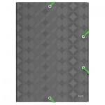 Пластиковая папка на резинке Leitz Retro Chic серая, A4, до 150 листов, 45150089