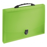 Портфель пластиковый Esselte Vivida зеленый, до 350 листов, 12 отделений, 624026, зеленый