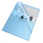 Папка-уголок Esselte синяя, A4, 110мкм, 25 шт/уп, 60834