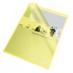 Папка-уголок Esselte желтая, A4, 110мкм, 25 шт/уп, 60836