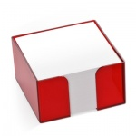 Блок для записей непроклеенный в подставке Стамм в боксе цвета вишни, 90х90мм